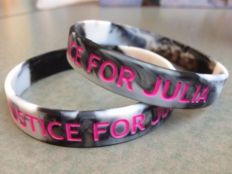 'Justice For Julia' bracelets being sold to raise scholarship funds. (Photo courtesy Facebook / Feb. 6, 2013)