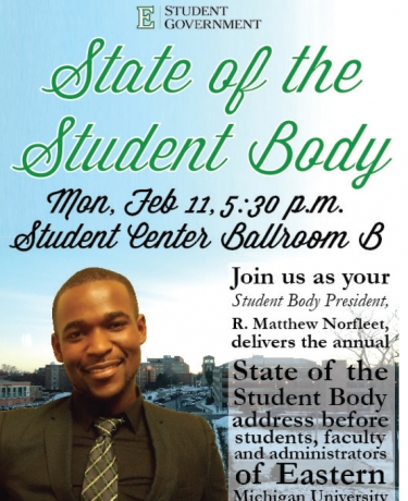 (Courtesy Benjamin Elmgren / Eastern Michigan University Student Government / Feb. 6, 2013)